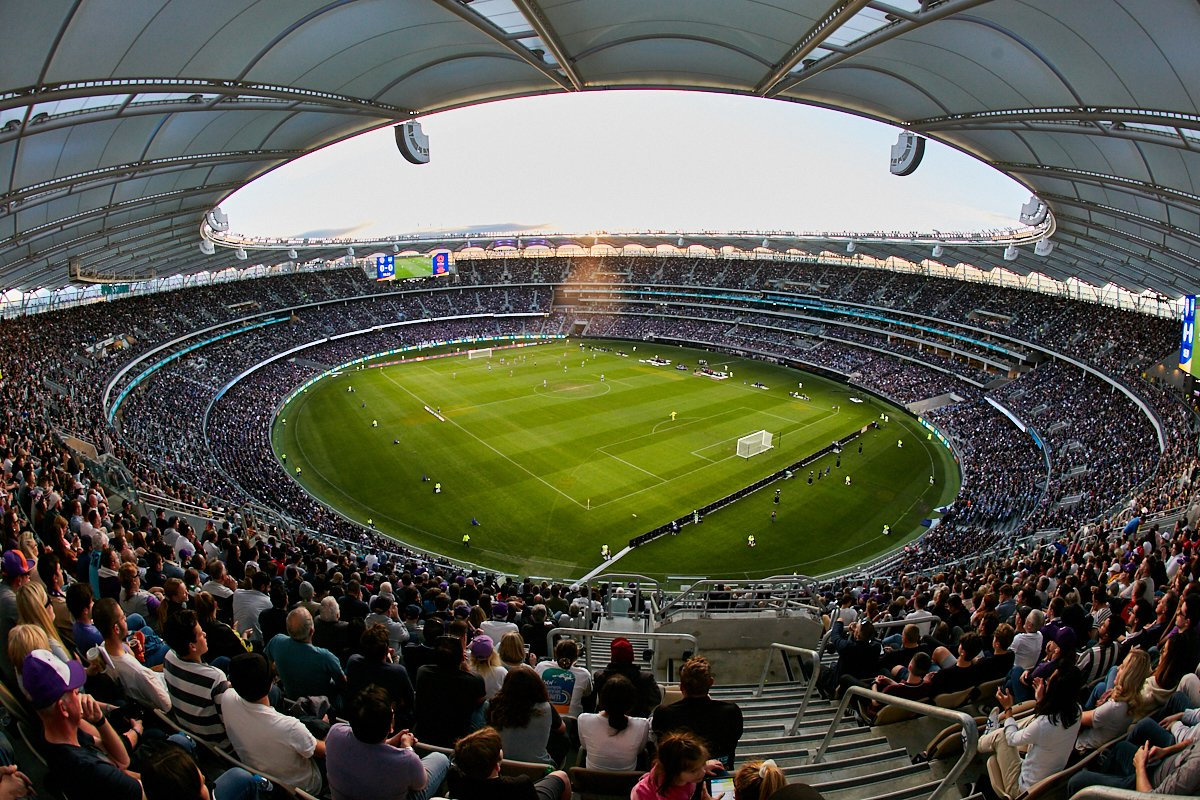 #OnThisDay | 1 year ago today @PerthGloryFC hosted the first A-League Grand Final at Optus Stadium ⚽    The biggest ever crowd at an A-League Grand Final, 56,371. Perth Glory and Sydney FC fans flooded the Stadium. Do you remember the end result? 😢 https://t.co/p8xXPS4ZD9