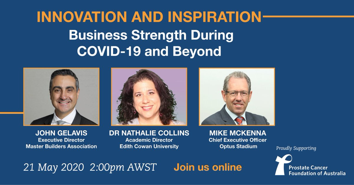 "Sign up to join the ""Business Strength During COVID-19 and Beyond"" Webinar  WHO 🎤 Optus Stadium CEO, Mike McKenna and other industry leaders  WHY 🤷 Listen in on business challenges and unique opportunities during COVID-19  WHEN 📅 2pm Thurs 21 May HOW 👉 https://t.co/UgS5EuWLNl https://t.co/6EI3rlbgpE"