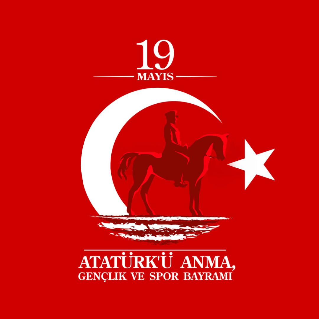 19 Mayıs Atatürk'ü Anma, Gençlik ve Spor Bayramımız Kutlu Olsun 🇹🇷 - 19 May Commemoration of Atatürk, Youth and Sports Day 🇹🇷 https://t.co/8cD6RL7laH