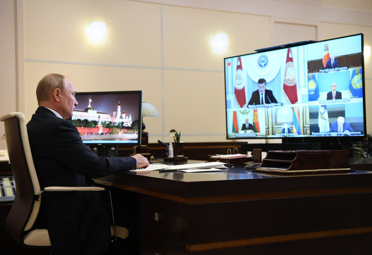 Strategic Directions for Eurasian Economic Integration Development until 2025: videoconference of the Supreme Eurasian Economic Council bit.ly/3e4c1ib