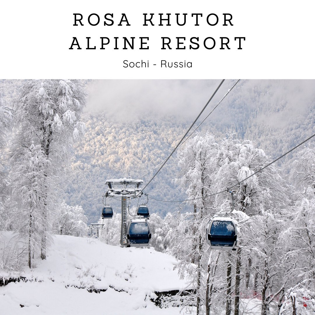 A mountain #resort in #Krasnodar Krai, Russia, at West Caucasus Range, on the #Khutor Plateau, near Krasnaya Polyana is situated in the #Rosa_Khutor Alpine Resort. The 2014 Winter Olympics and Paralympics in Sochi have hosted the Alpine skiing events.pic.twitter.com/1FE5POtW9n