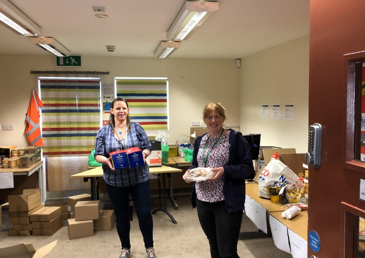 The support we have had from SureStart Halifax has been outstanding! We deliver to our vulnerable families each week and they help us to fill bags with essential items,  Lisa Trowell and Tracie Taylor, you are our SureStart heroes! ❤️ #Noonelefthungry #Foodisfuel