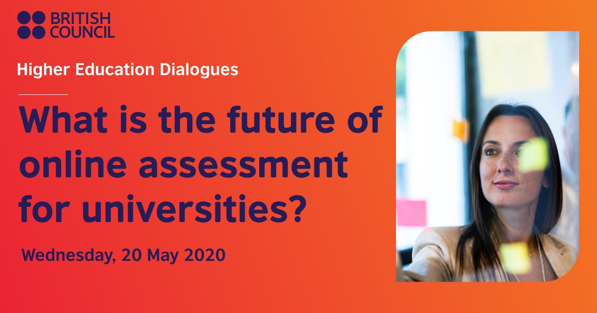 """Join us this Wednesday for #HigherEducationDialogues session on """"What is the future of online assessment for universities?"""". We will discuss what are the opportunities and challenges of online assessment. Register here: https://t.co/8xEApJi9r6 @OpenU_Israel https://t.co/rRREldJYDl"""