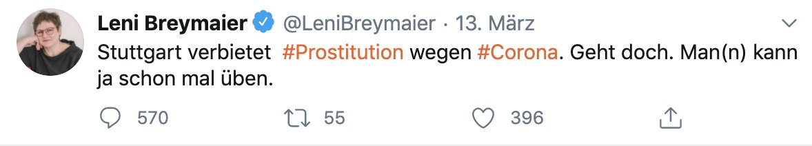 Thread 1/15  Als Leni @LeniBreymaier ihren gehässigen Tweet absetzte und schadenfroh das sofortige Berufsverbot und damit verbundene Existenznot für die Frauen bejubelte, die ihr angeblich am Herzen liegen, war klar: Das wird nicht alles sein. https://t.co/JDPQHpksiT