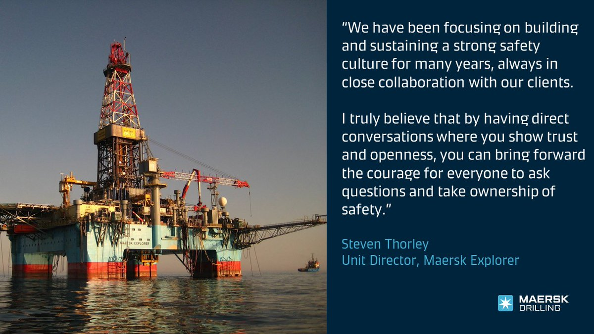 Kudos to #TeamExplorer for surpassing 3,200 days without any Lost Time Injuries (LTIs)! An achievement that takes dedication to #safety by everyone, especially during the #COVID19 pandemic. Congratulations to everyone on #MaerskExplorer! https://t.co/jcXoUIk8rD #MaerskDrilling https://t.co/vzRYC2pbGe