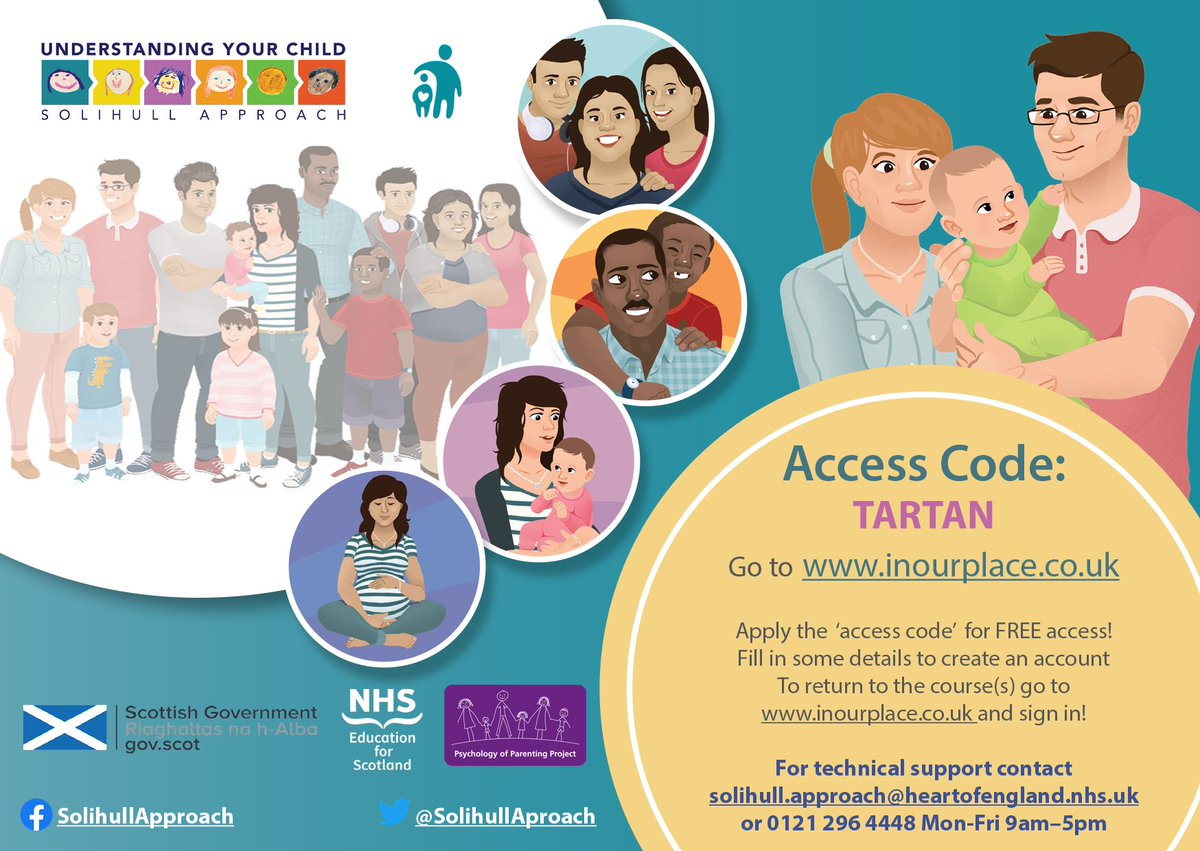A new free resource Solihull Online helps parents and carers in Scotland understand child behaviour and development and improve parent-child relationship is now available at https://t.co/fC285KbGAO Enter code word 'tartan' to access https://t.co/h4biMBf6K9
