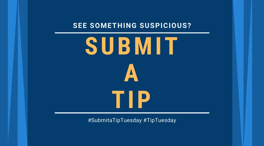 Have you seen suspicious activity regarding controlled substances? This includes growing, manufacturing, distributing, or trafficking of controlled substances. Let us know. dea.gov/submit-tip #TipTuesday #SubmitaTipTuesday