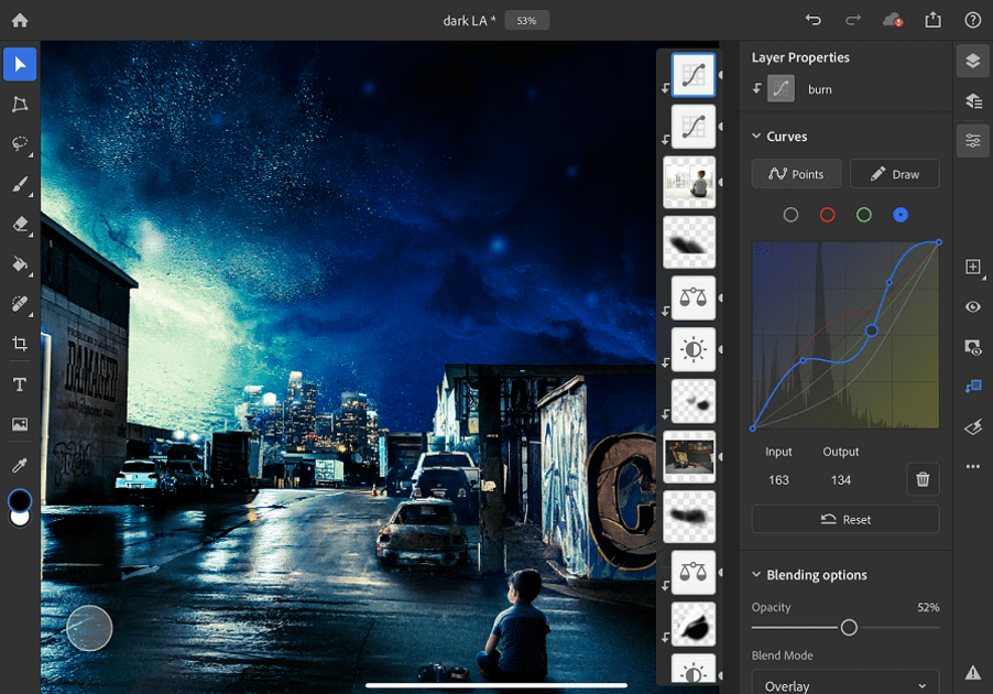 Photoshop for iPad gets Curves and Apple Pencil pressure settings