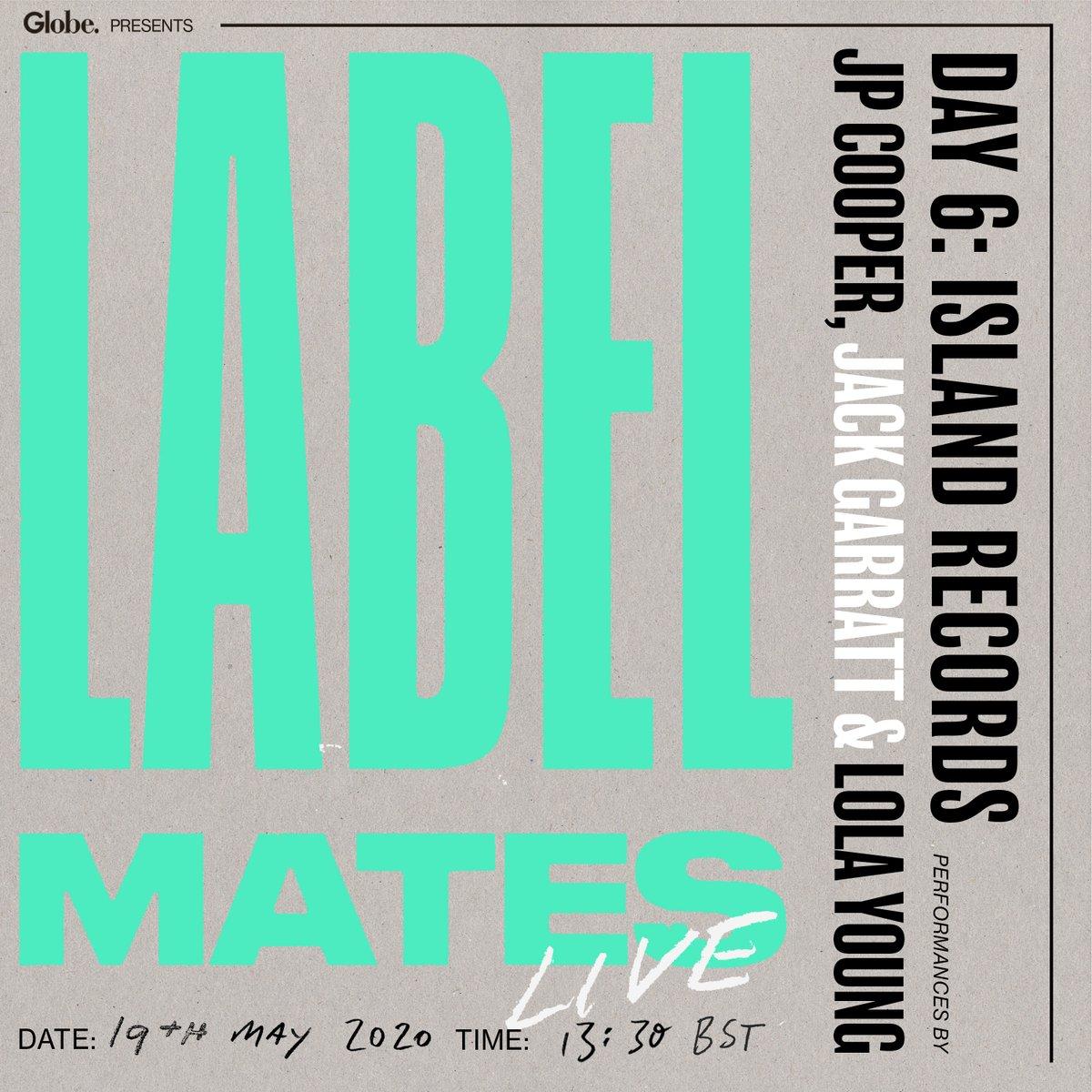 Day 6 of @UMusicGlobeUK's LabelMates is here 🎶Today we have @islandrecordsuk's @JPCooperMusic @JackGarratt & Lola Young 🎉 https://t.co/tg9OQXTt4p