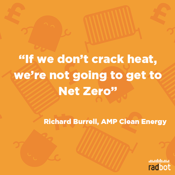 Richard Burrell, AMP Clean Energy, highlights the importance of heat decarbonisation to reach #NetZero goals. Let's start as we mean to go on with cleantech solutions that help us meet those targets quickly and efficiently.  #heating #netzerocarbon #technologyforgood #cleantechpic.twitter.com/hAcspueJzl
