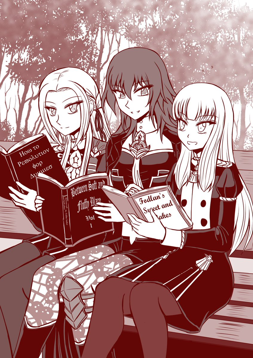 reading~~  #FireEmblemThreeHouses #FE3H  #edeleth #edelgard #byleth  #lysithea #myartwork<br>http://pic.twitter.com/zWmu0YLHmQ