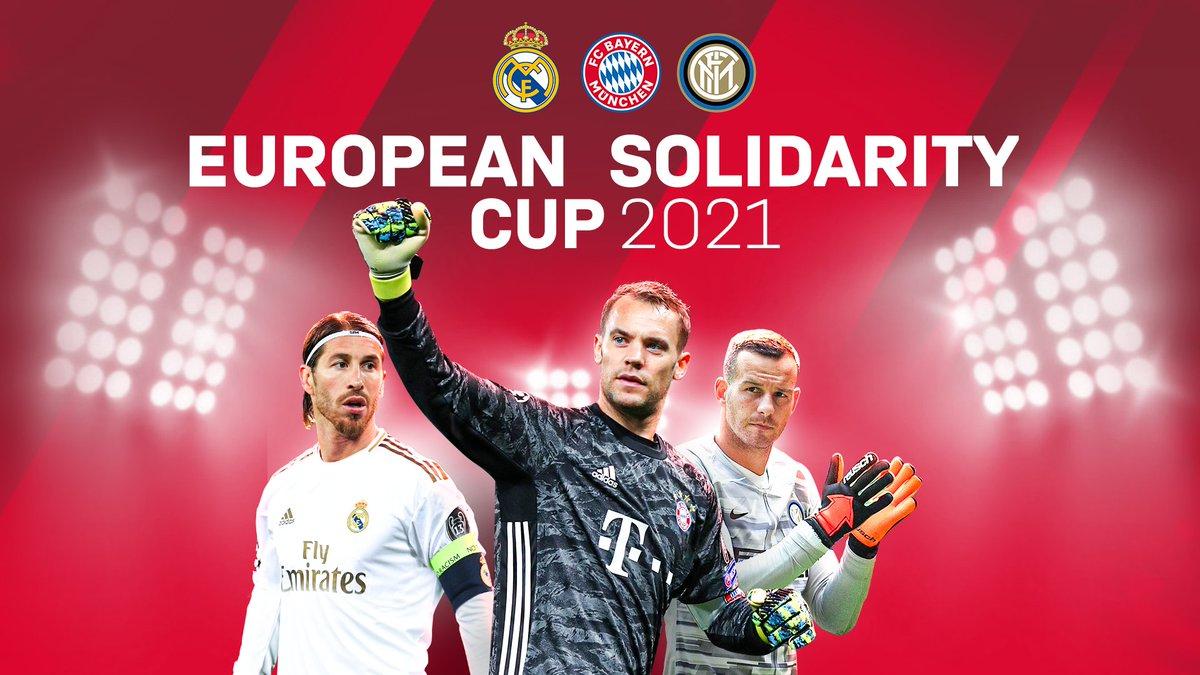Bayern, Real Madrid e Inter vão disputar um torneio amigável entre si, em 2021, e as receitas serão doadas aos sistemas de saúde espanhol e italiano.