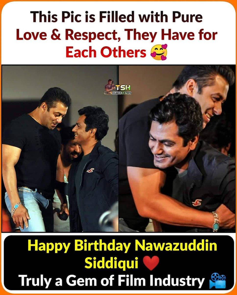 I don't hv the clip, during Raees promotion in TKSS show..   Kapil Asked Nawaz Sir - 'U worked with 3 khan's, amongst them who is ur fvrt..??  Nawazuddin : Kam krne me to Salman Bhai k Sath hi jyada maza aata Hai..   Happy Birthday Nawaz Sir... <br>http://pic.twitter.com/QLhE0EFgXm