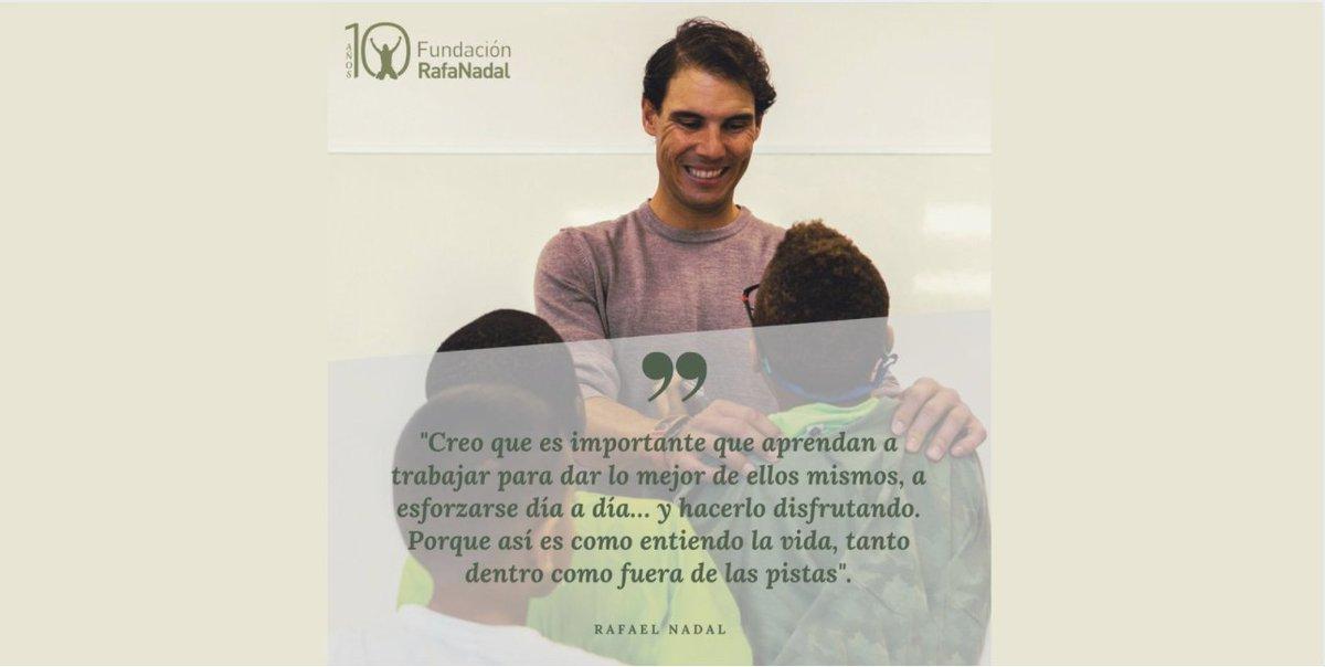 .@RafaelNadal, sobre los niños y niñas de la #FundaciónRafaNadal 👏No podemos estar más de acuerdo, ¿y tu? #RafaNadal #quote https://t.co/io4c57SAdX