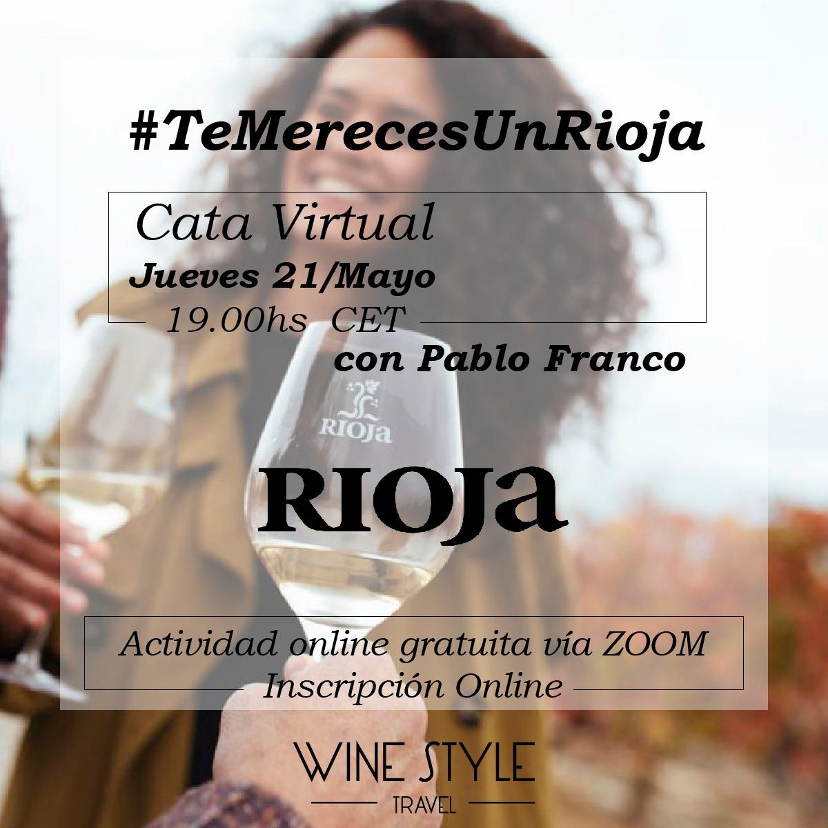 Apúntate a esta cata virtual de @WinestyleTravel a través de Zoom. Este jueves 21 de Mayo: últimas novedades de la DOCa Rioja con Pablo Franco, Director Técnico de la Denominación https://winestyletravel.com/producto/21-mayo-te-mereces-un-rioja-ultimas-novedades-de-la-doc-rioja-con-pablo-franco-director-tecnico-de-la-denominacion/… #Rioja #RiojaWine #Winelovers #cata #Catavirtual pic.twitter.com/xIuNvKAt6K