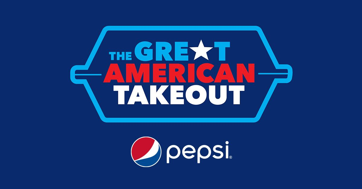 I've teamed up with @Pepsi to support local restaurants as part of the Great American Take Out. Be sure to head to your favorite spot for pickup or delivery in support of the restaurant industry! #PEPSI #GreatAmericanTakeOut https://t.co/IhxWxDKhok