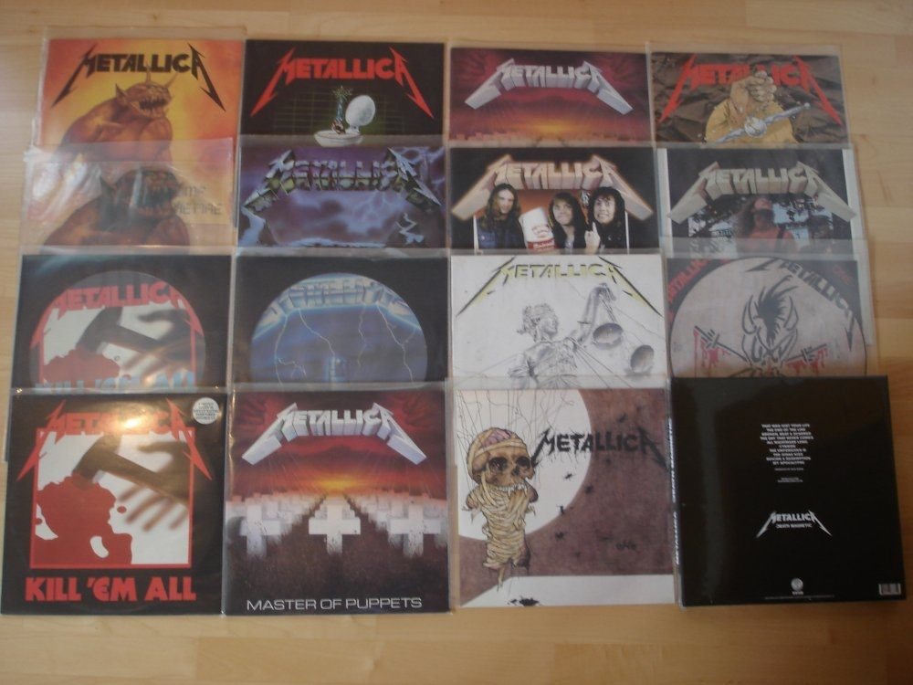 Metalvinylcollection of the Day:        Metallica #Metallica #Heavymetal #Metal #Vinyl #Metalvinyl #Thrashmetal #Thrash #90s #80s #Metalcollectionpic.twitter.com/AK29eVpvFc