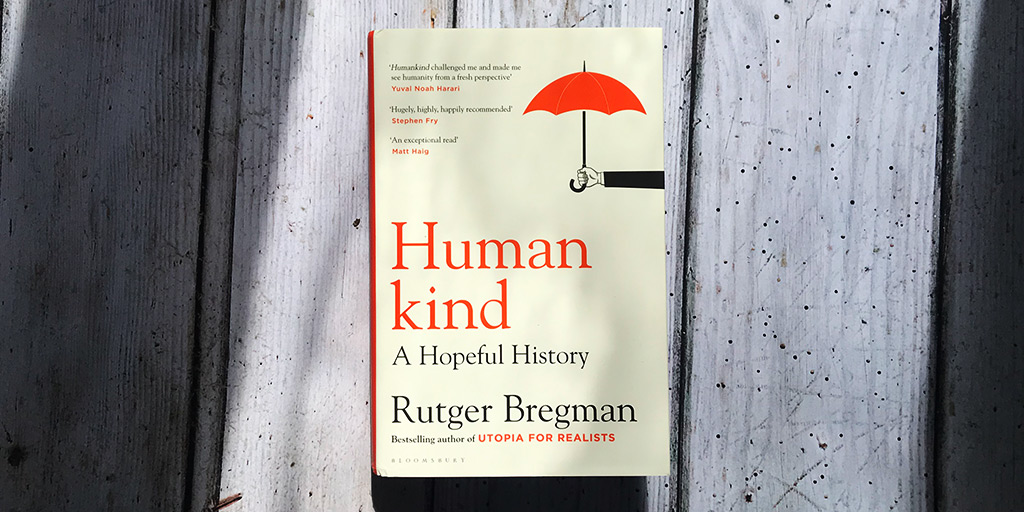 What an incredible event! Thank you by @rcbregman, @OwenJones84 and @GuardianLive If you want more, Rutger's book #Humankind: A Hopeful History is out now! 📙You can order a copy from @Guardian_Bkshop here: bit.ly/2Zlu5k6