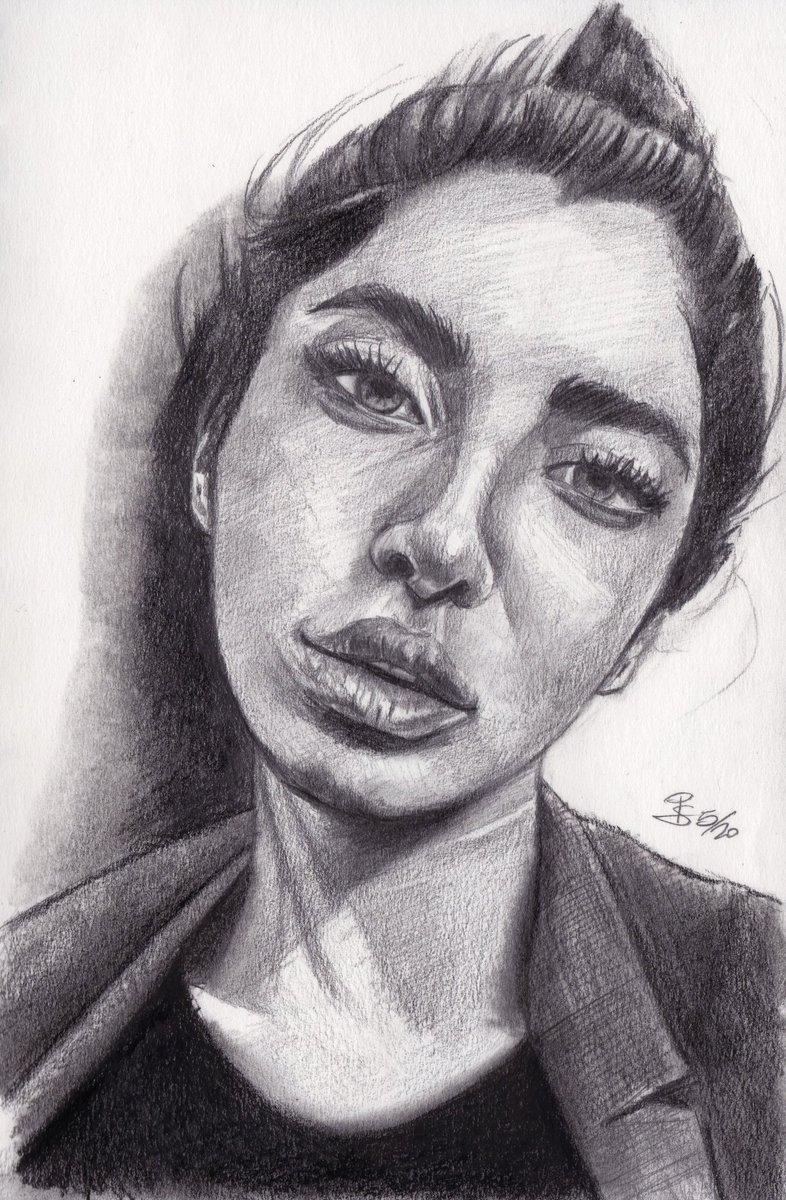 """Solaleh"", #graphite #portrait on #sketchbook ref. by @sktchyapp #Sktchy  #art #handdrawn #handdrawnart #teamdli  #sktchyinspired #pencildrawing #graphitedrawing #artist #pencil #graphite #illustration #italianartist #drawsomethingshowcase #united_artists_art_pic.twitter.com/TaGSpx4fx6"