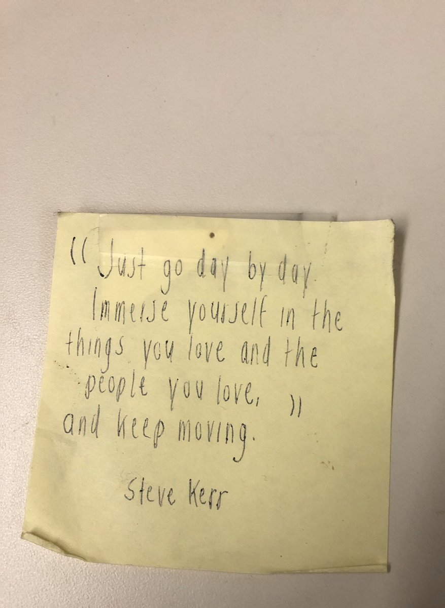 Here is that Post-It. It's good advice that I've turned to a number of times over the past few years, and it's especially relevant now.