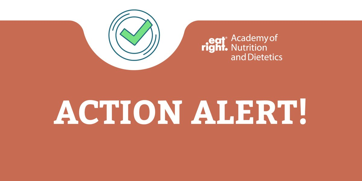 Take action today and help Americans keep food on the table during the #COVID19 pandemic!  Please urge your Senators to strengthen and protect critical federal nutrition programs: https://t.co/3BzJRVsspq  #eatrightPRO #rdchat #futureRDN #dietitians https://t.co/bWexyUFCoL