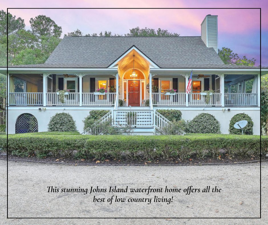 This stunning Johns Island waterfront home offers all the best of low country living! Reach out to your Century 21 Properties Plus agent today to find out more! #johnsislandliving #charlestonrealestate #lowcountryliving https://t.co/MKHOq4rq8i