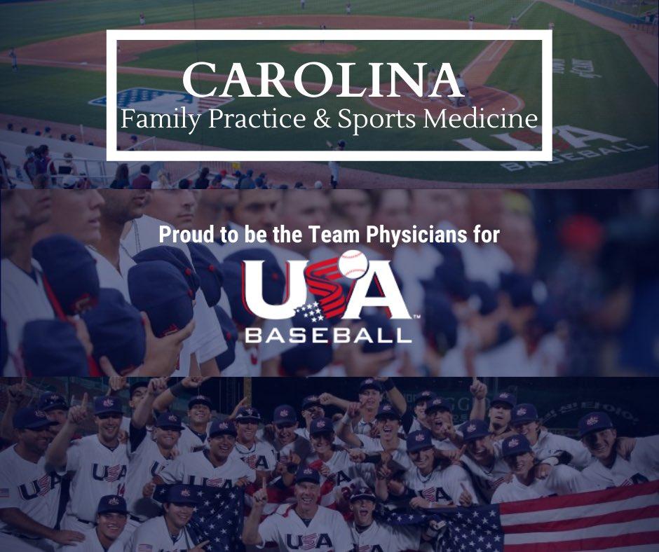 #CFPSM #Cary #Raleigh #HollySprings #SportsMedicine #USA #Baseball #USAbaseball