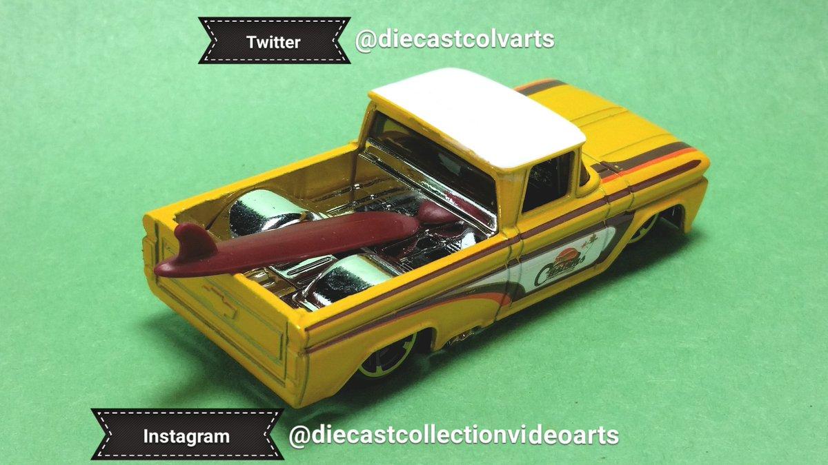 Hot Wheels '62 Custom Chevy. #diecastcolvarts #diecastcollectionvideoarts #hotwheels #diecast #toys #custom #Chevy #pickup #surfboard #orange pic.twitter.com/nPCaZPb6sq