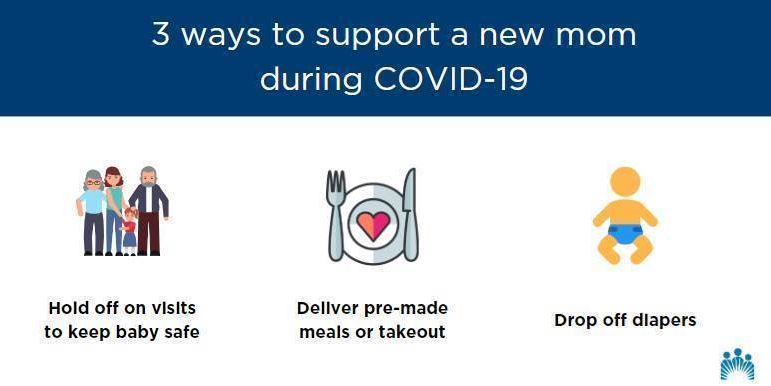 How can you support a new mom during COVID-19? Elena Martinez, MD, shares tips: https://t.co/7AwjmITlT0 https://t.co/KKENoSTHgg