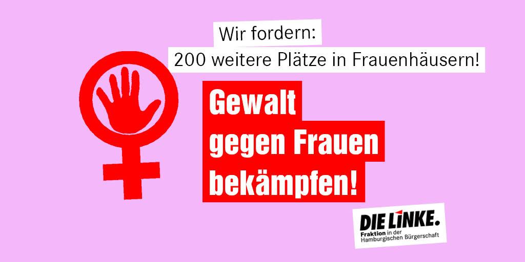 In #Hamburg fehlen 200 Plätze in Frauenhäusern. Im Zusammenhang mit der #Coronakrise wird mit einem Anstieg häuslicher #Gewalt gerechnet. Ad-Hoc-Maßnahmen des @Senat_Hamburg sind wichtig, reichen aber nicht aus. Wir brauchen langfristig mehr Schutzplätze! linksfraktion-hamburg.de/in-und-nach-de…