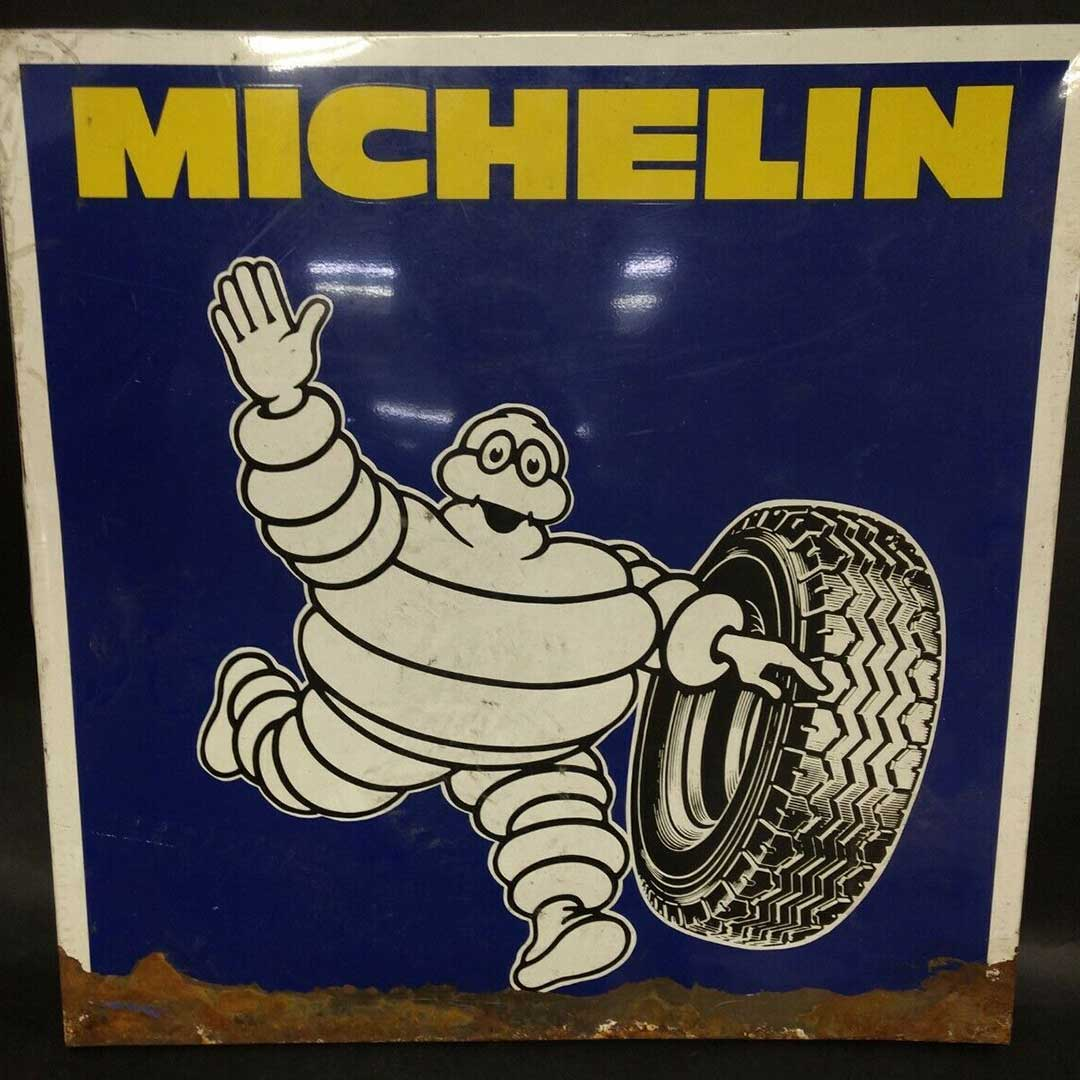 Community Forklift On Twitter I Just Found Out That The Michelinman Has A Name He S Called Bibendum And He Was Introduced In 1894 Check Out This Vintage 26 X26 Metalsign In The Communityforklfit