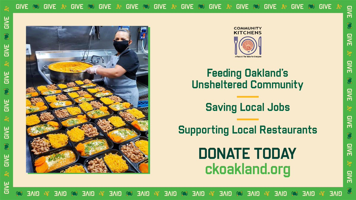 The Town knows how to take care of one another. Community Kitchens is a nonprofit that is re-purposing Oakland's restaurants to provide hot meals for those in need. Consider donating today to help Community Kitchens continue their mission. https://t.co/XpVrVRDNkm https://t.co/HoHE3ZFN21