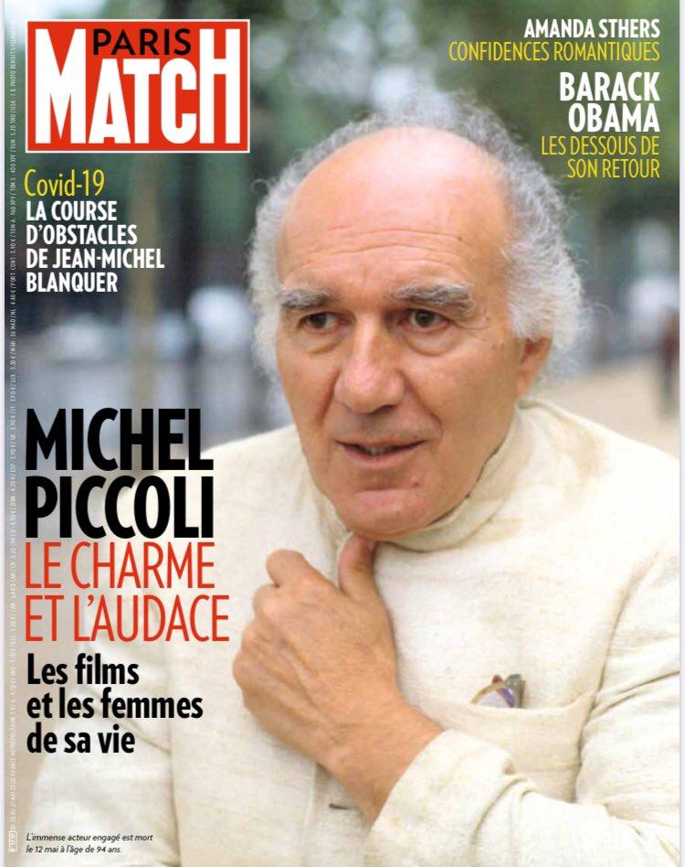 L'hommage de @ParisMatch à un immense acteur à la filmographie plus qu'impressionnante. Michel #Piccoli a tourné avec les plus grands. 😢🎬