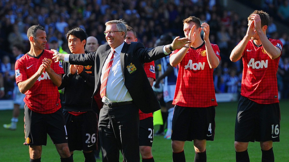"""""""In the dressing room after the match, Ryan Giggs teased: 'David Moyes has just resigned'.""""😂  Alex Ferguson's final match as Man United boss was fittingly thrilling🤯  Seven years on, @RyanRyanBenson looks back on that 5⃣-5⃣ draw at West Brom⏮️  📝:https://t.co/Kl01sFYJVo #MUFC https://t.co/NY8p2toh1n"""