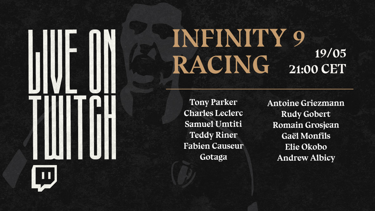 To infinity and beyond! 🏎🚀 Let's see which of these familiar faces will finish first tonight. 🏁 @F1 #Infinity9Racing https://t.co/oCziAfWawB