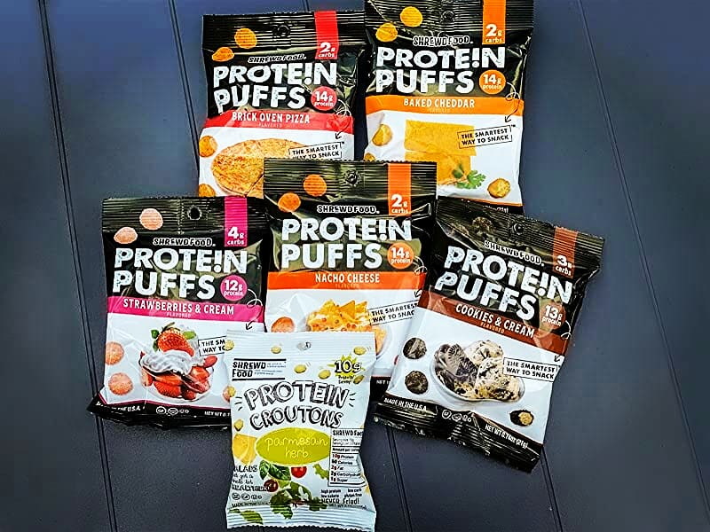 5 stars7,561Reviews  #Shrewd #Food #protein #Puffs, #keto #friendly #snacks #lowcarb #Carb #Crunch, #protein #Crisp, #Savory and #Sweet, #Gluten #Free, #Soy #Free, #PeanutFree, 14g Protein - 2g #Carbs #Per #Serving, 12 #Variety #Packpic.twitter.com/x2l8rVZAyN