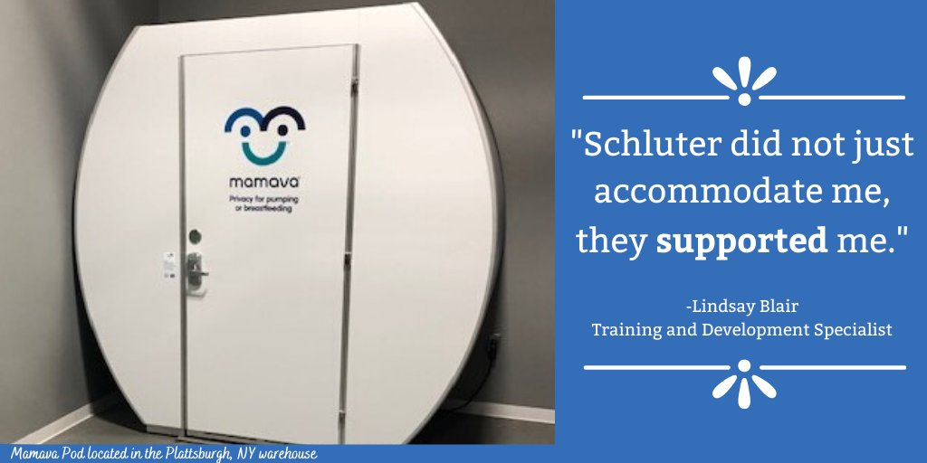 Shout out to @schluterNA for supporting their #breastfeeding employees! #MySchluter #NormalizeBreastfeeding @MAMAVA