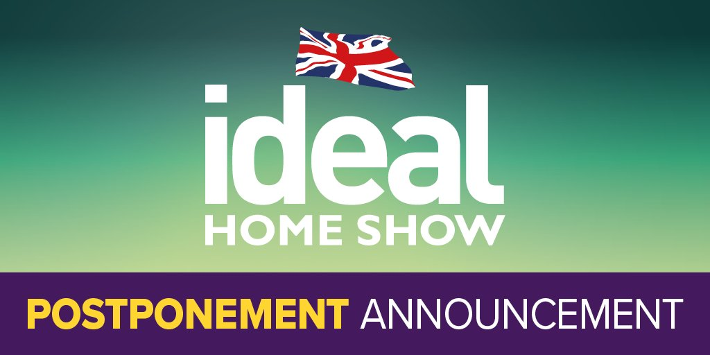 Media 10 Ltd, regretfully announces that the Ideal Home Show scheduled for 25th July has been postponed and will now take place from 26th March – 11th April 2021 at Olympia London. Find out more here - https://t.co/wxmTpt9mRY https://t.co/ZGwIgWdyDc