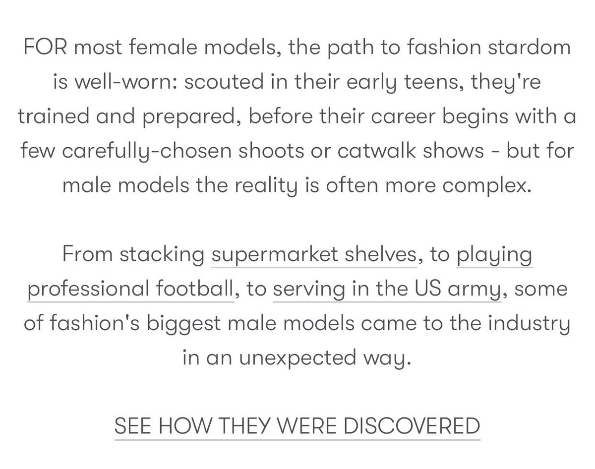 An article from Vogue UK. #malemodels pic.twitter.com/TkDo9M8ZN0