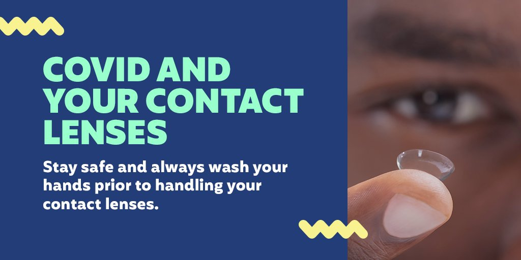 Disinfect your contact lenses often and wash your hands with soap and water before touching your face to prevent infection. Visit https://t.co/b57m5NYcxq for more information about eye safety. https://t.co/KzyzykAA9d