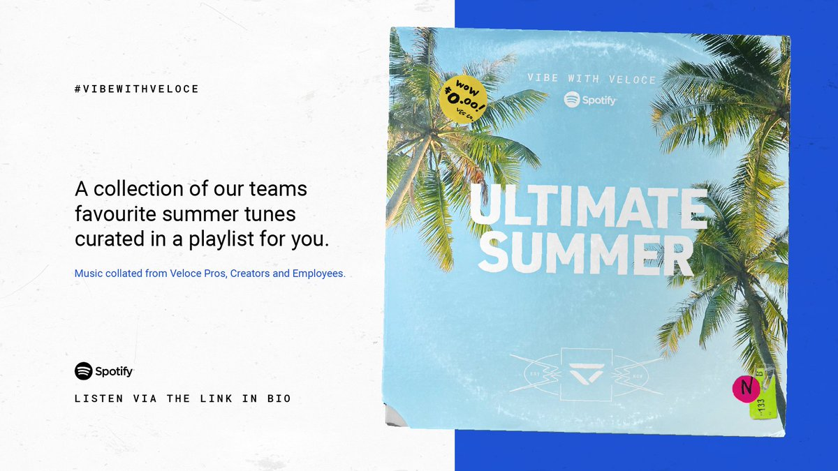 🌴 🎧 #VibeWithVeloce 🎧🌴 Every member of Veloce, be it content creators, esports players or staff, was asked to give us 3 songs that remind them of summer - and here is what they picked! open.spotify.com/playlist/3an9m…