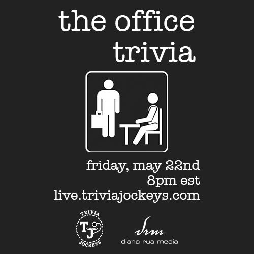 FRIDAY MAY 22ND: THE OFFICE THEMED VIRTUAL TRIVIA.   Win $$ while putting your Office knowledge to the test.   All you need is 2 devices - for information and to buy tickets: https://t.co/8CinOUQI3k https://t.co/Kcrm02yLUs