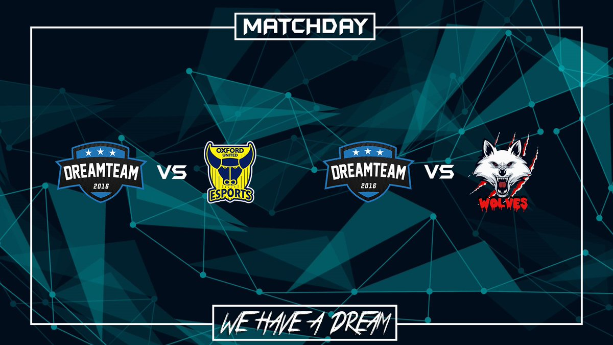 Matchday:  | @VPGChampNorth  | @OUFC_Esports_  | 22:00  | @VPGeCL  | @DangerousWolve2  | 22:30  #WeHaveADream #GoDreamers pic.twitter.com/sR6WvNKrcs