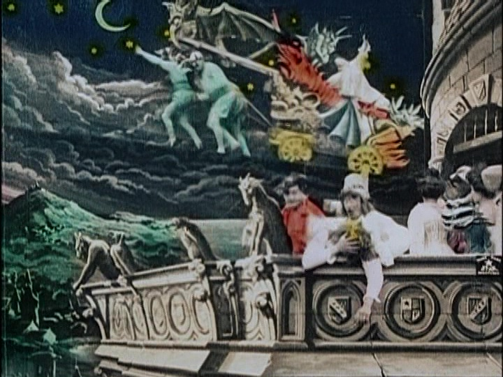 Georges Melies outdid himself with THE KINGDOM OF THE FAIRIES (1903), an elaborate hand-colored extravaganza based on the popular fairy productions of the stage. moviessilently.com/2020/05/17/the…
