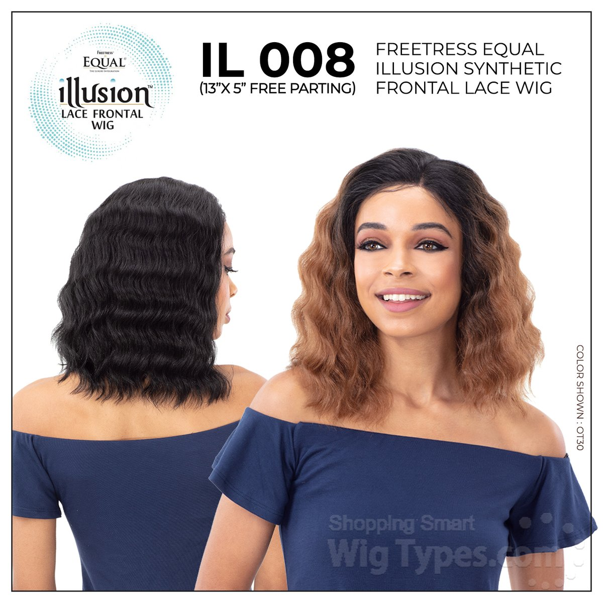 Freetress Equal Illusion Synthetic Frontal Lace Wig - IL 008 (13x5 free parting) (https://soo.nr/TW6h)    . . . . #wigtypes #wigtypesdotcom #protectivestyles #blackgirlhair #blackgirlmagic #lacefrontalwig #syntheticwigs #illusionwig #freepartingwig #il008wigpic.twitter.com/tDhpfXLFys