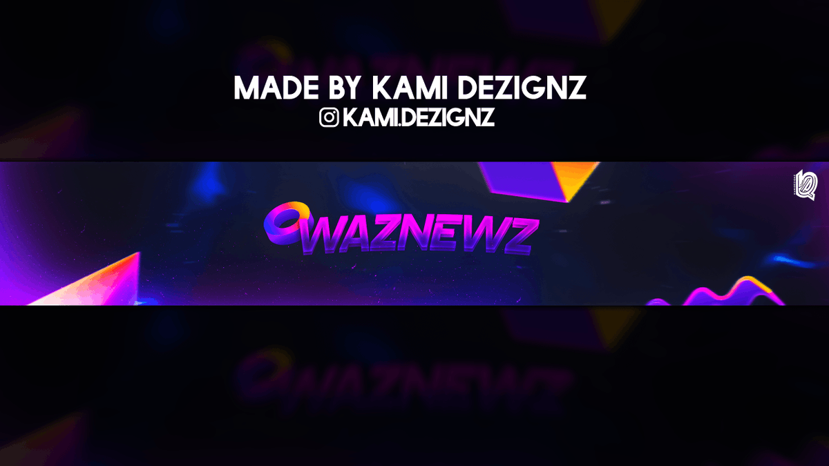 Banner Ordered By: WazNewz  DM me to purchase or make a deal for a Youtube Banner, Twitter Header, Thumbnail, etc.  #youtubebanner #GraphicDesign #youtubechannelart #twitterheader #LogoDesign #twitchtv #mixer