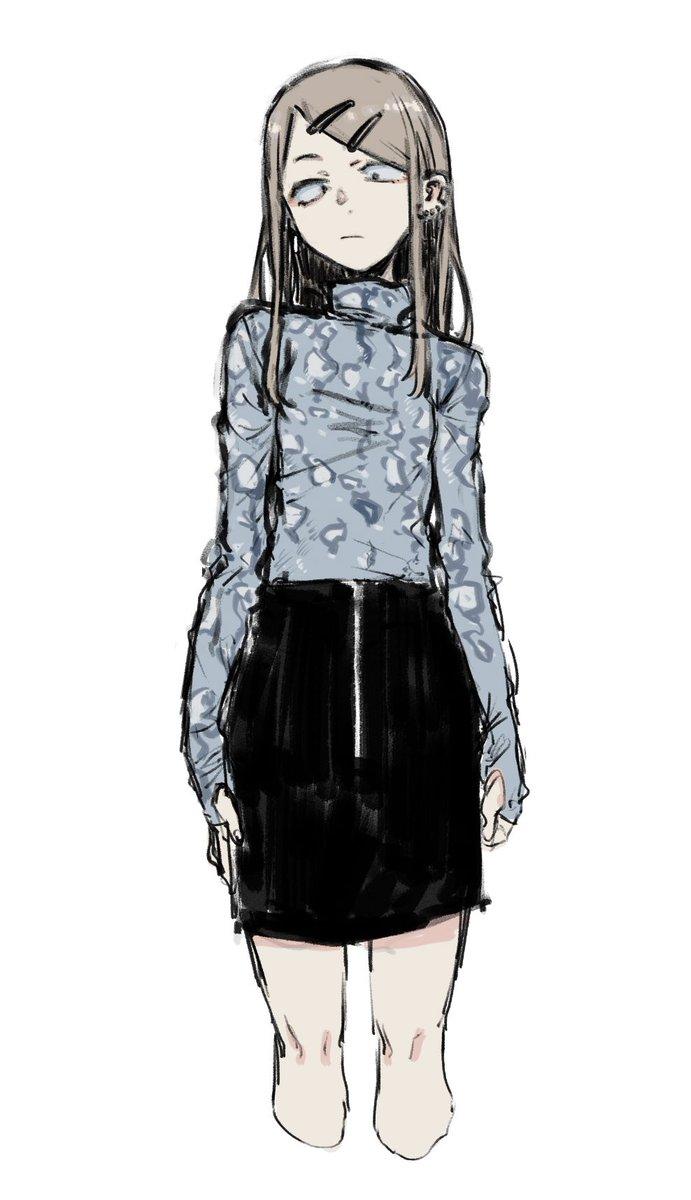 かわいい服があったので描きたかったのだけど無理でした