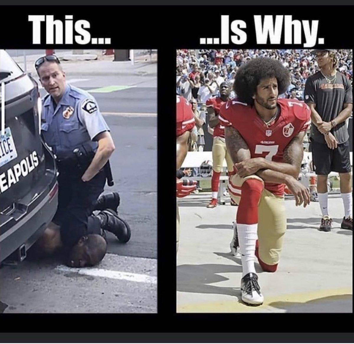 We don't kneel to kill. We kneel for justice. #justiceforfloyd