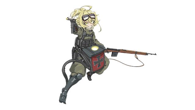 【登場キャラクター紹介】ターニャ・デグレチャフ帝国軍の航空魔導士官。白く透き通った肌を持つ金髪碧眼の幼女。孤児院での貧しい暮らしから抜け出すため、志願兵として士官教育を受け、将校となった。将校としても極めて優れた軍人だが、#まどかく #幼女戦記