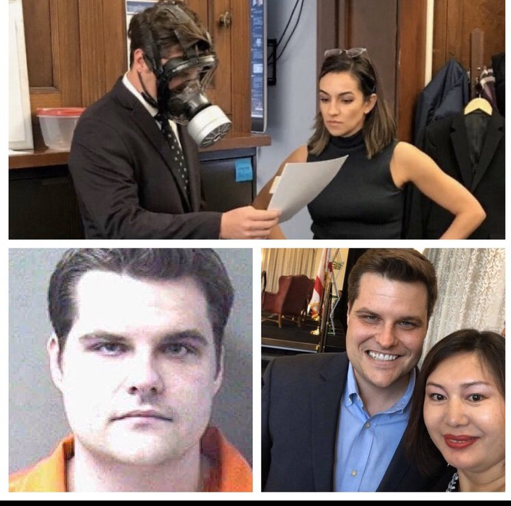 The orange jumpsuit of prison shows up pretty good. The mask you should slap on Frump. pic.twitter.com/2pSlNyFcxo